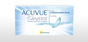 Pack of 6 re-usable lenses. ACUVUE OASYS® Contact Lenses with HYDRACLEAR® PLUS and UV Blocking.